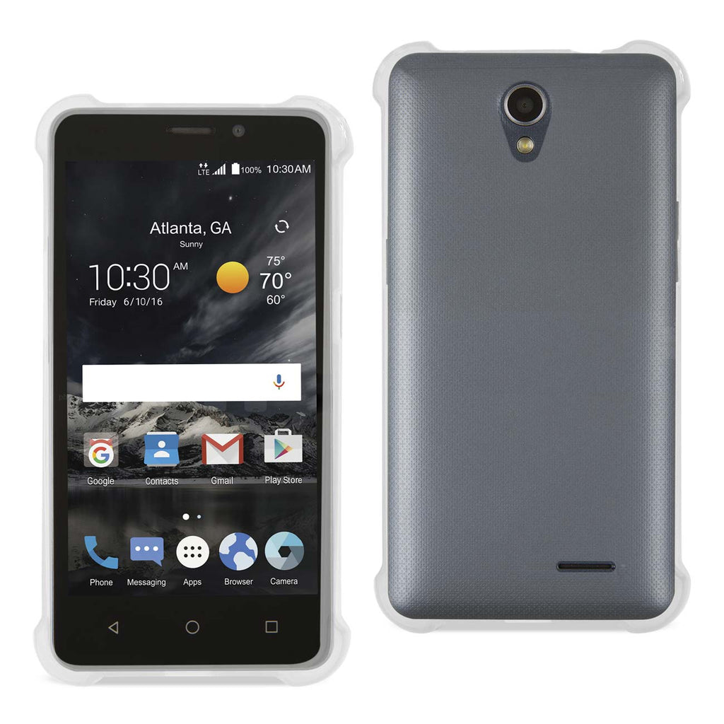 Reiko ZTE Maven 2/ Chapel (Z831) Clear Bumper Case With Air Cushion Protection In Clear | MaxStrata