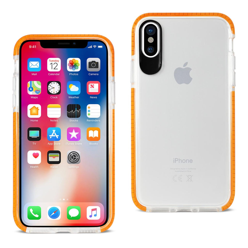 Reiko iPhone X/iPhone XS Soft Transparent TPU Case In Clear Orange | MaxStrata