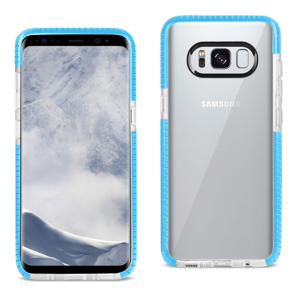 Reiko Samsung Galaxy S8 Edge/ S8 Plus Soft Transparent TPU Case In Clear Blue | MaxStrata
