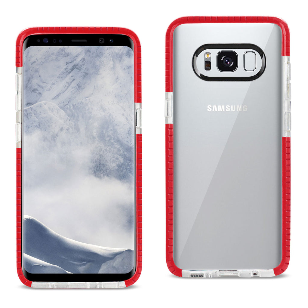 Reiko Samsung Galaxy S8 Edge/ S8 Plus Soft Transparent TPU Case In Clear Red | MaxStrata