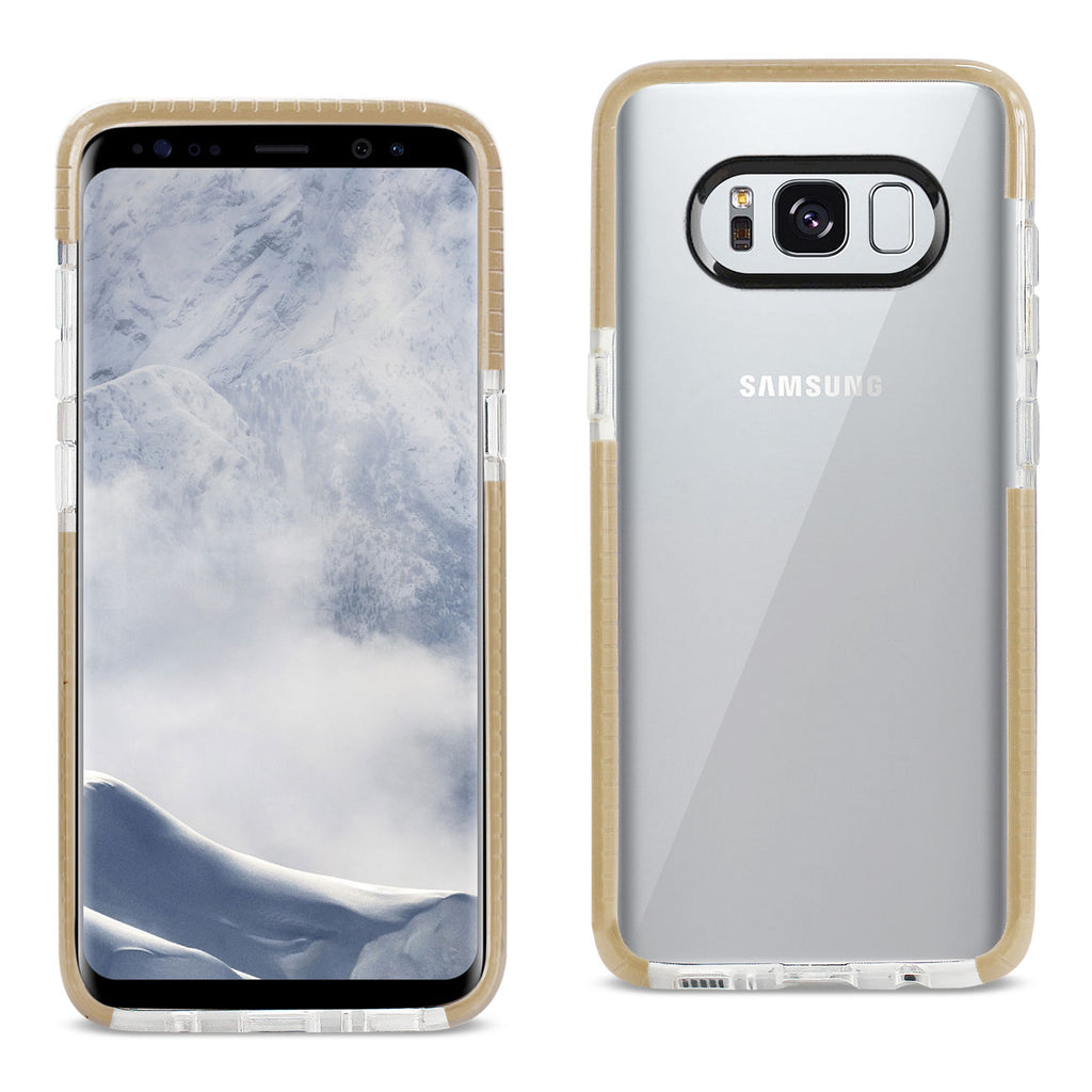 Reiko Samsung Galaxy S8/ Sm Soft Transparent TPU Case In Clear Gold | MaxStrata
