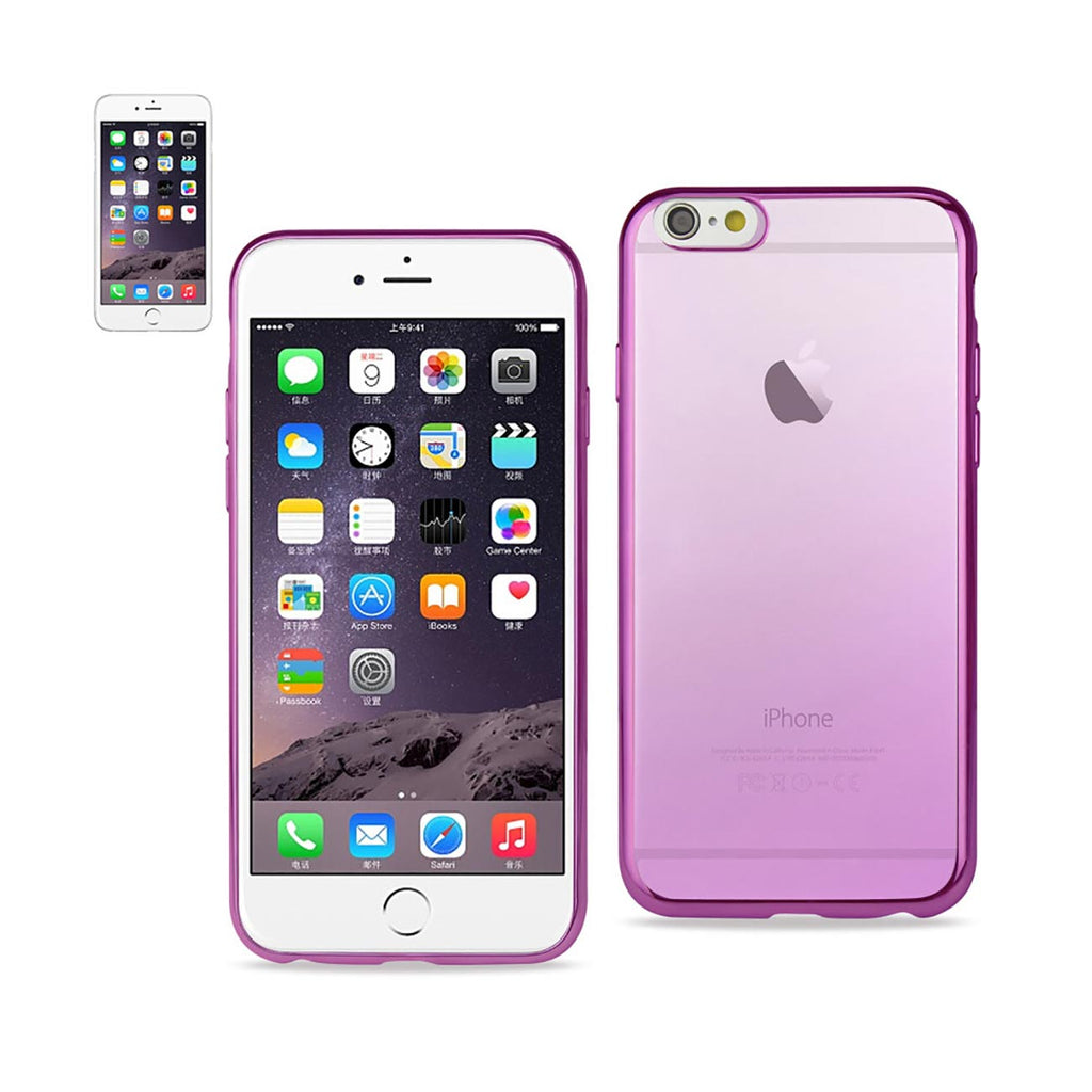Reiko iPhone 6 Plus Frame Gradient Clear Glitter Case In Purple | MaxStrata