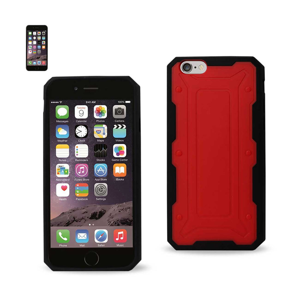 Reiko iPhone 6 Dual Color Transformer Case In Red Black | MaxStrata