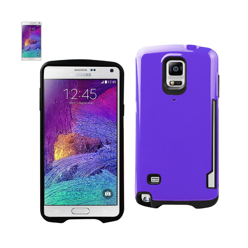 Reiko Samsung Galaxy Note 4 Candy Shield Case With Card Holder In Purple | MaxStrata