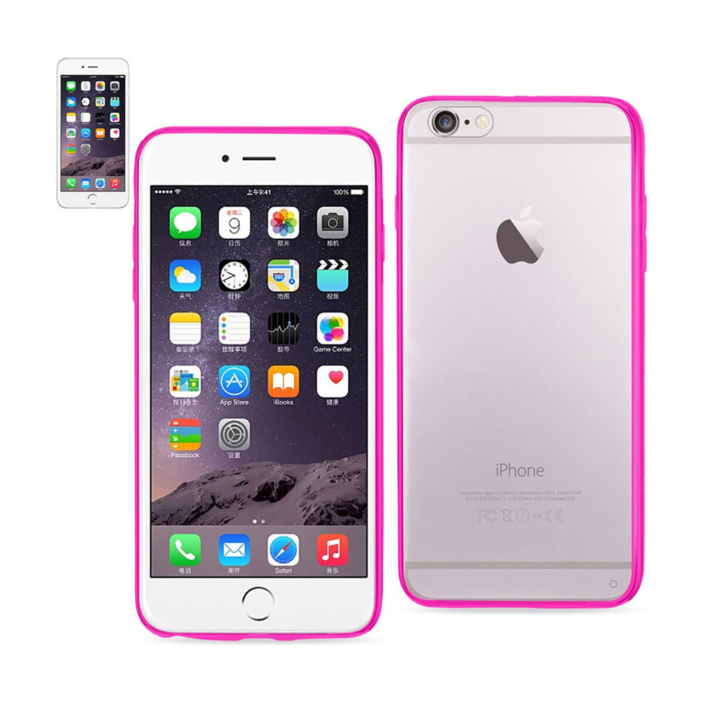 Reiko iPhone 6 Plus/ 6S Plus Clear Back Frame Bumper Case In Pink | MaxStrata