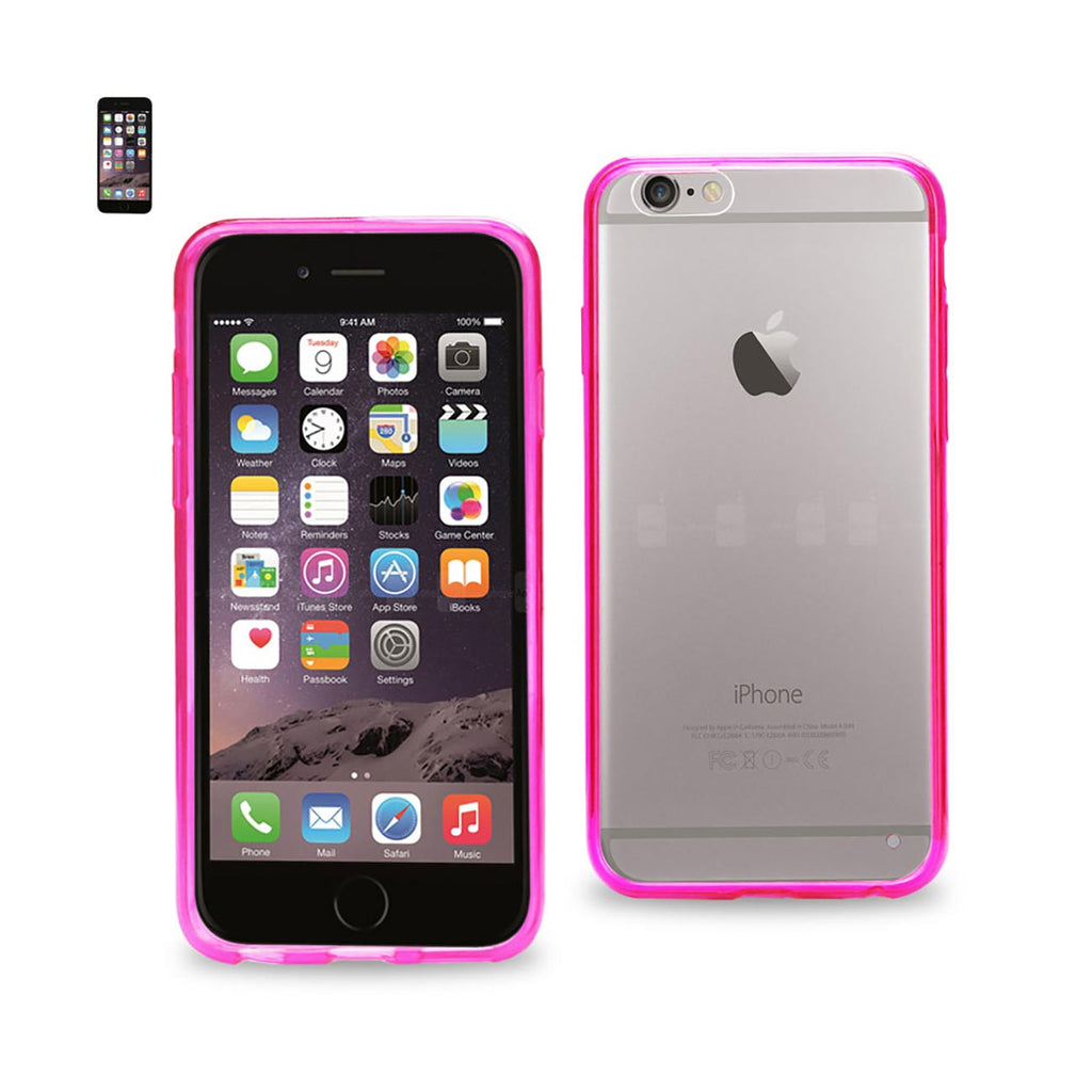 Reiko iPhone 6 Clear Back Frame Bumper Case In Pink | MaxStrata