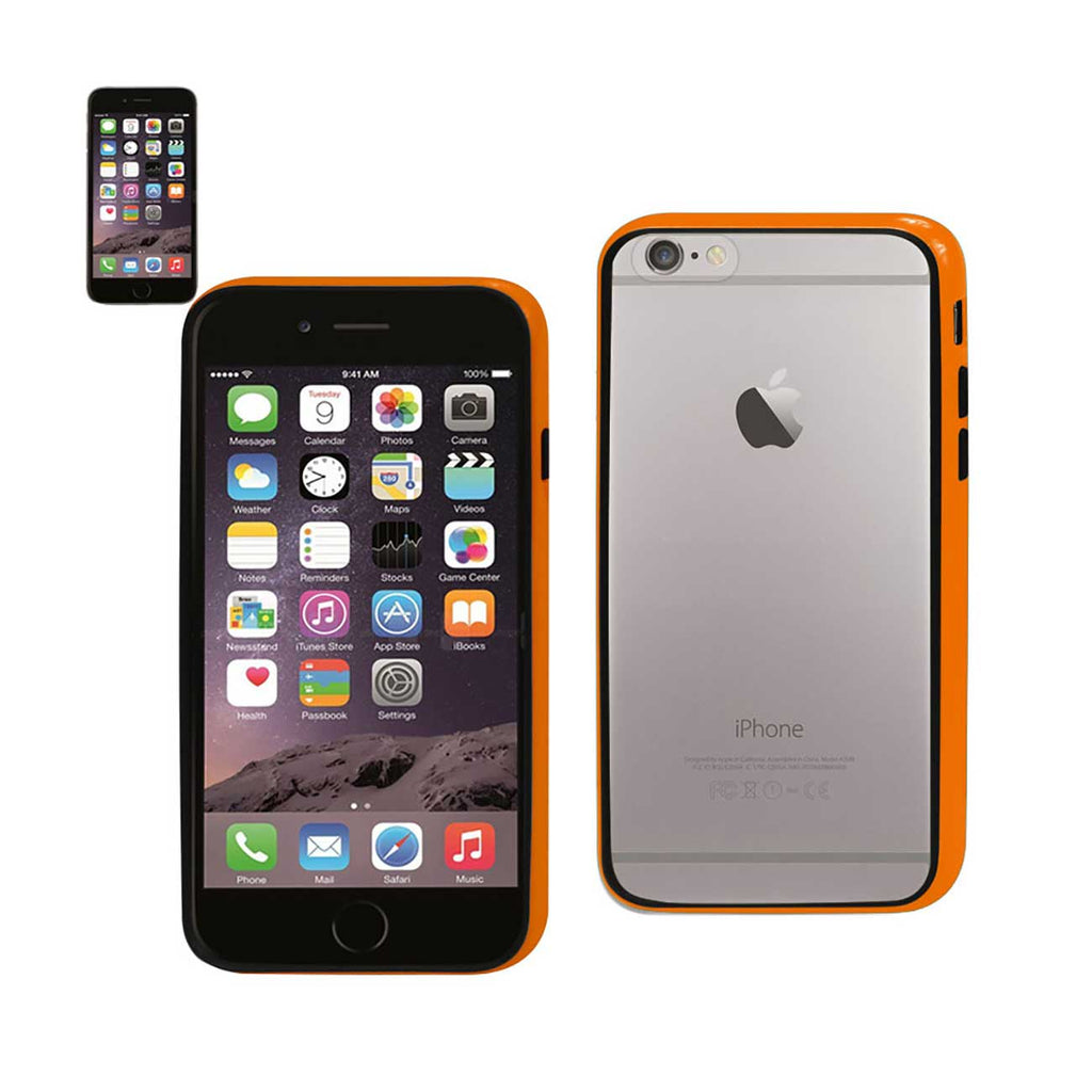 Reiko iPhone 6 Bumper Case With Tempered Glass Screen Protector In Orange | MaxStrata