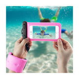 Reiko Waterproof Case For 4.7 Inches Devices With Floating Adjustable Wrist Strap In Hot Pink | MaxStrata