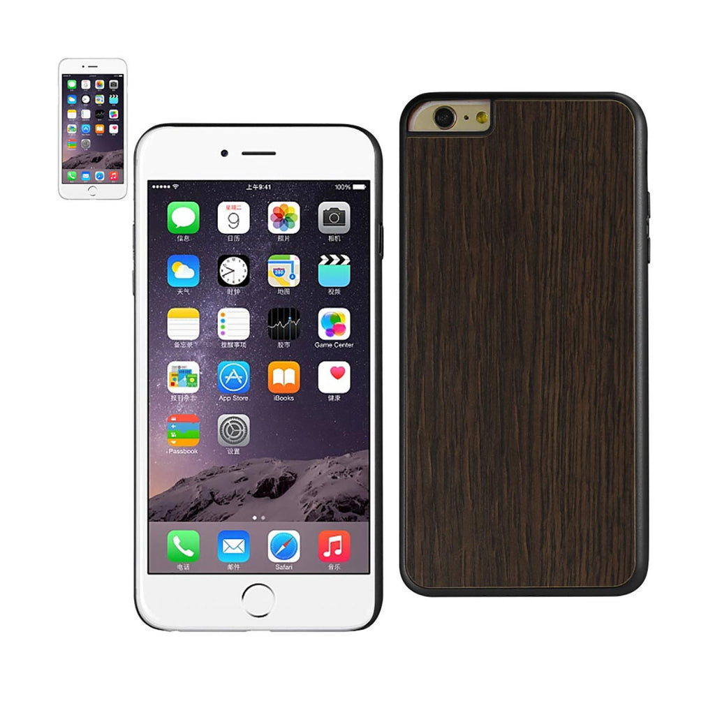 Reiko iPhone 6 Plus Real Wood Slim Snap On Case In Black | MaxStrata