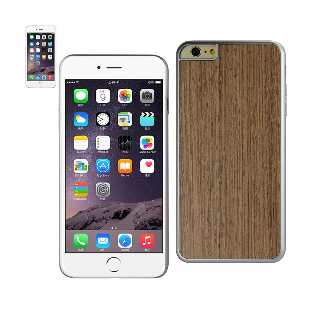 Reiko iPhone 6 Plus Wood Grain Slim Snap On Case In Silver | MaxStrata