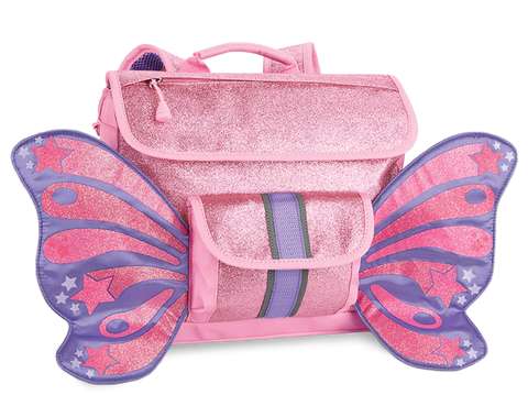 Bixbee Sparkalicious Butterflyer Pink Backpack - Small | MaxStrata