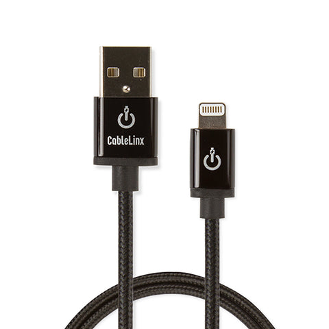 "CableLinx Elite 36"" Apple MFi Certified Lightning to USB-A Charge & Sync Braided Cable 