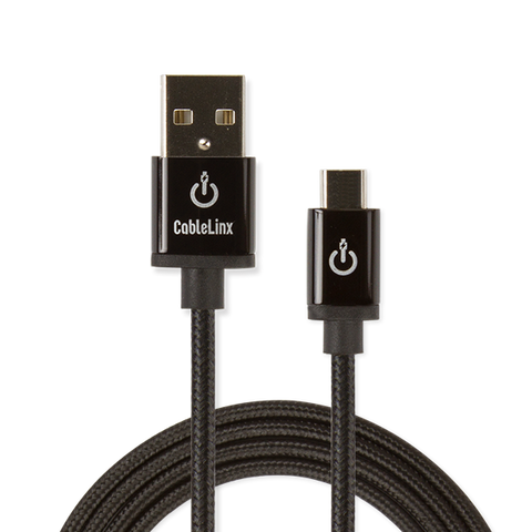 "CableLinx Elite 72"" Micro to USB-A Charge & Sync Braided Cable 