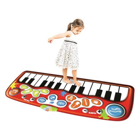 HamiltonBuhl Do-Re-ME Giant 6 Foot Floor Piano Mat - 24 Keys | MaxStrata