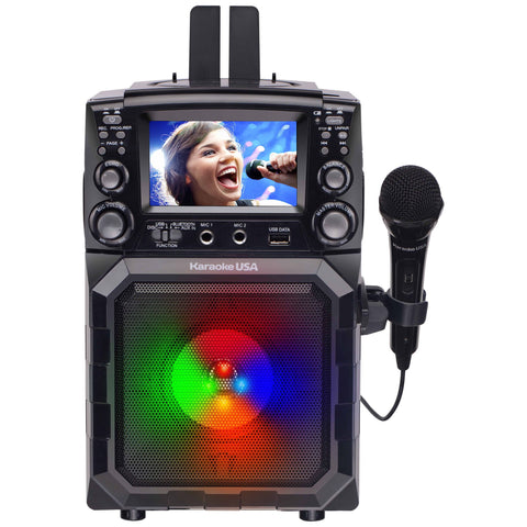 Karaoke USA Portable CD/MP3 Karaoke Player - Bluetooth, Recording Function & Built-In Battery | MaxStrata