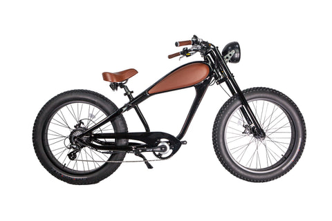 GlareWheel EB-CH Black Electric Bike with 7-Speed Gear | MaxStrata