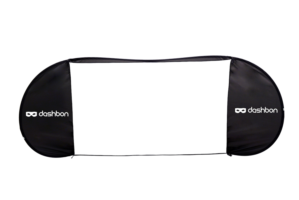 Dashbon Magic Screen: 80-inch Freestanding Pop-Up Projection Screen | MaxStrata