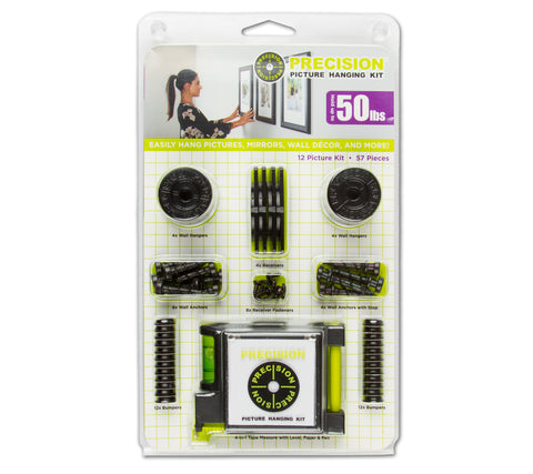 Precision 12 Picture Hanging Kit with Tape Measure | MaxStrata