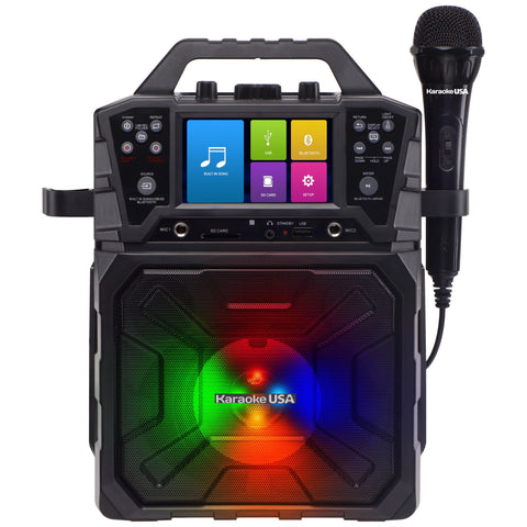 "Karaoke USA Portable MP3 Karaoke System - 4.3"" Digital Screen & Recording Function 