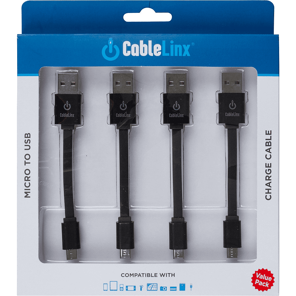 ChargeHub CableLinx Value Pack of 4 Micro to USB Cables | MaxStrata