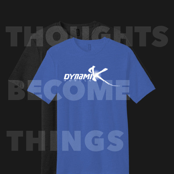 """Thoughts Become Things"" Crew Neck T-Shirt - Dynamik Muscle"