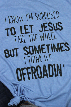 Off Roadin' With Jesus Unisex Blend Tee
