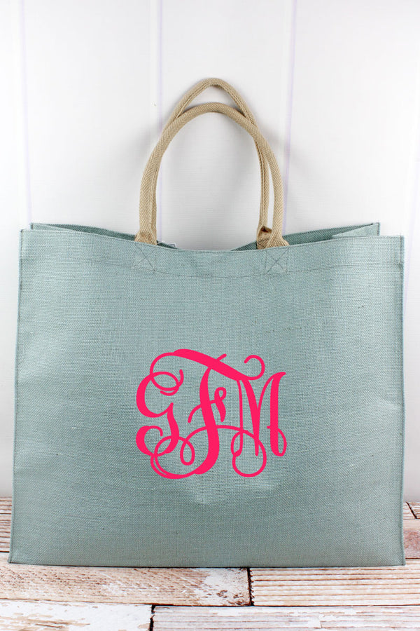 Tradewinds Jute Carryall Tote