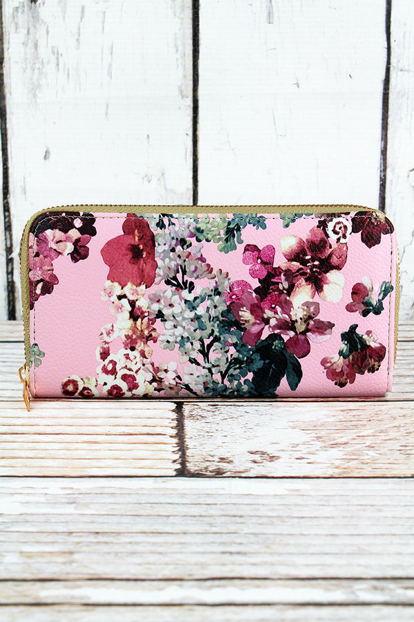 Cherry Blossom Blush Organizer Clutch Wallet