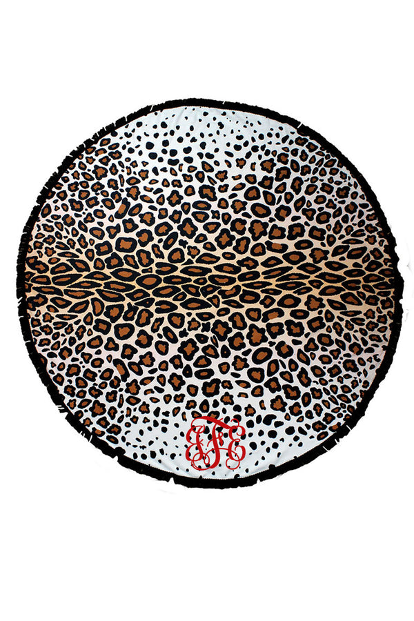 Call Of The Wild Leopard Round Beach Towel