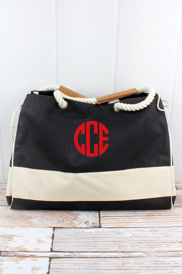 Black and Natural Dockside Tote