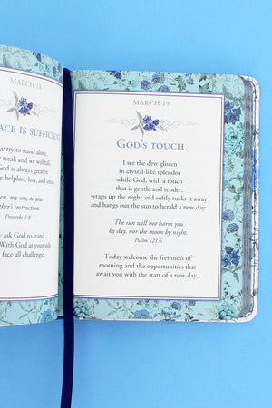 One-Minute Devotions - From the Heart LuxLeather Book