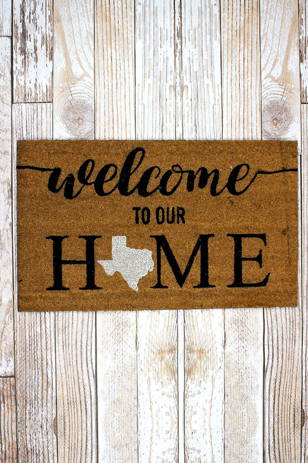 Texas Welcome Coir Doormat