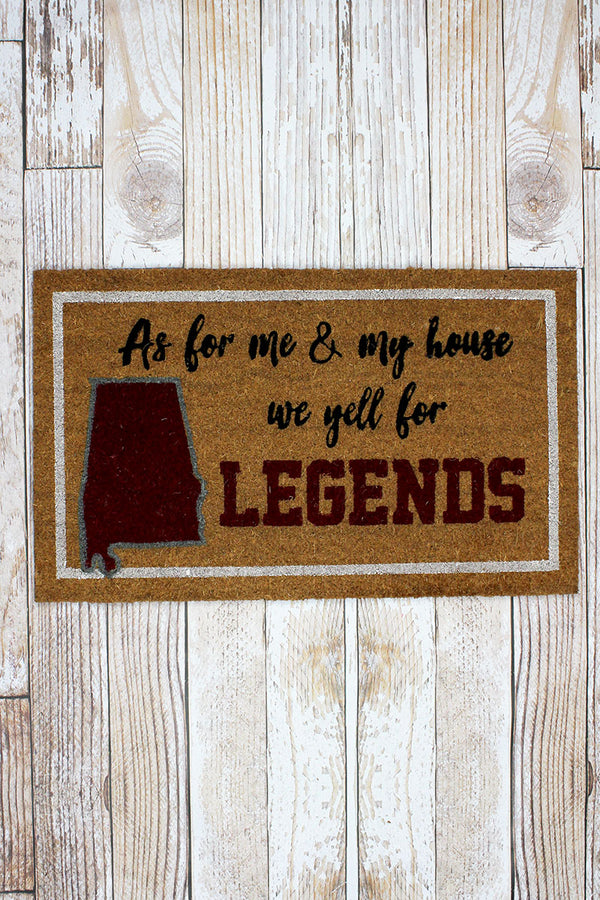 We Yell For Legends Coir Doormat