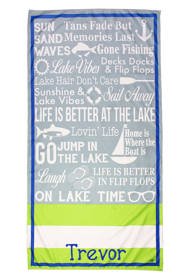 Tradewinds And Lime Lanier Microfiber Beach Towel