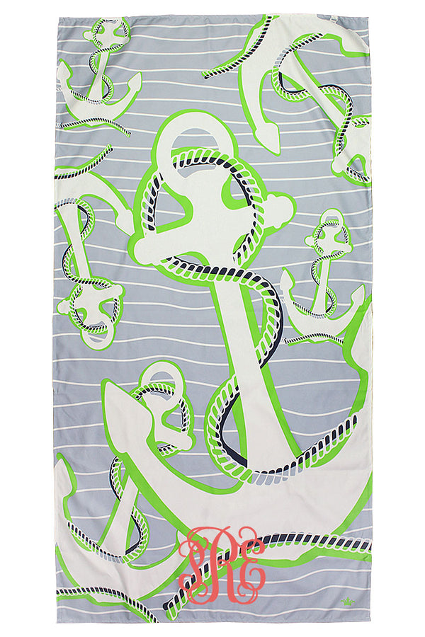 Tradewinds And Lime Lauderdale Microfiber Beach Towel