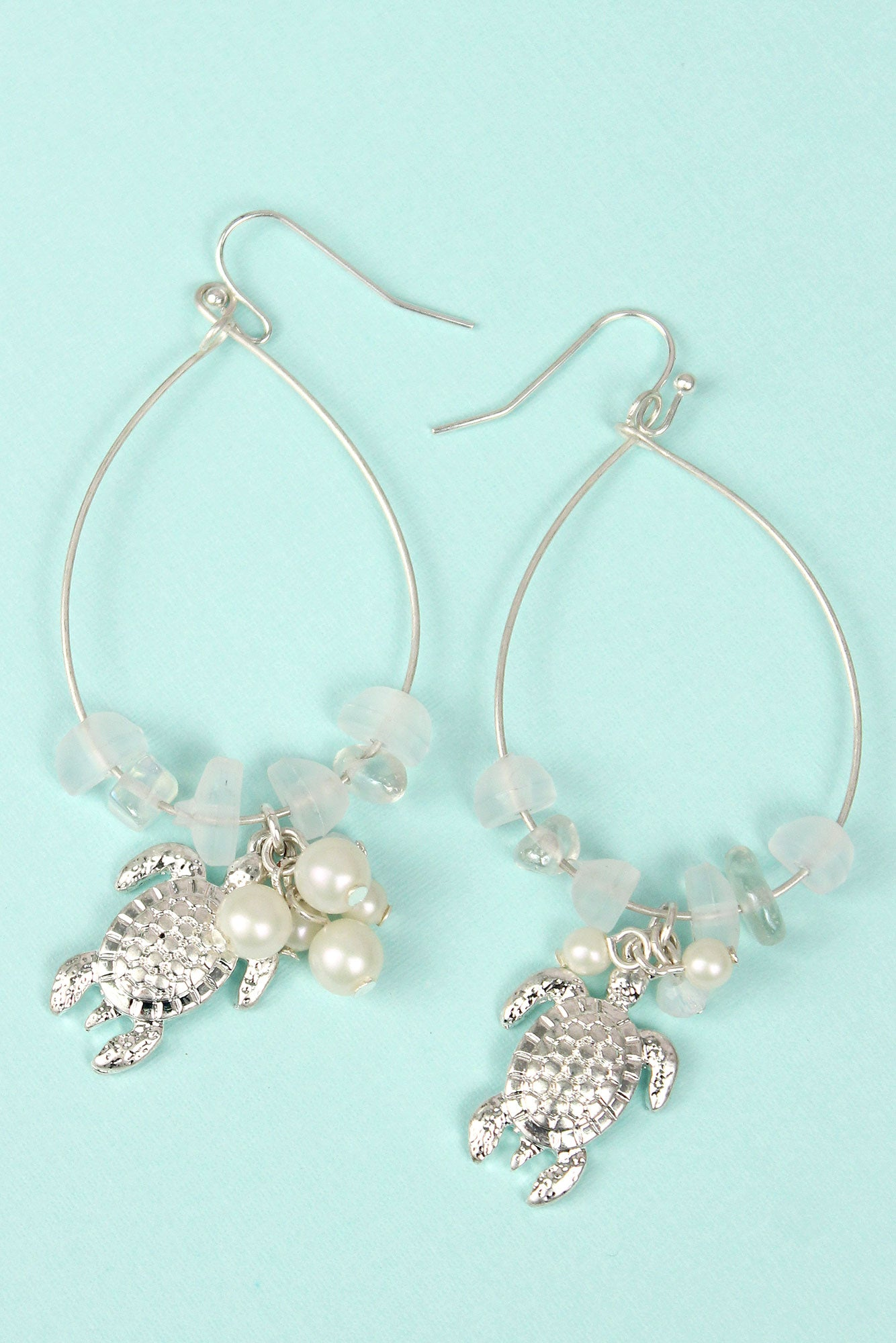 bcbgmaxazria gallery earrings drop beaded white jewelry in lyst