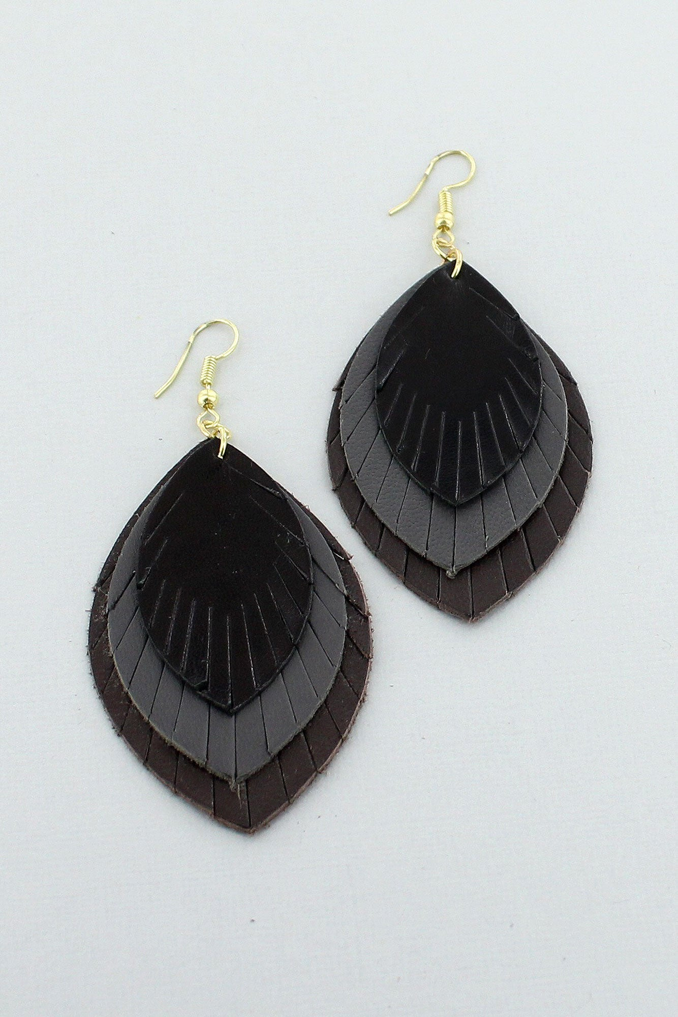 feathered earrings gold maroon matte burnmarkny feather dipped products burnmark
