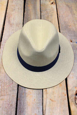 Island Adventure Navy Banded Panama Hat