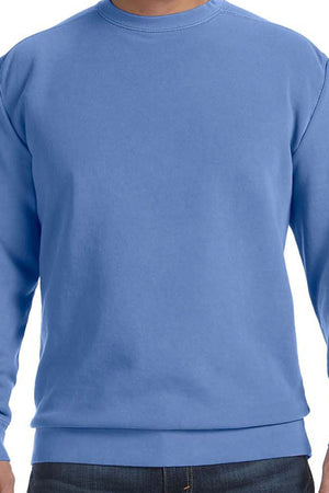 Large Circle Monogram Comfort Colors Adult Crew-Neck Sweatshirt *Customizable