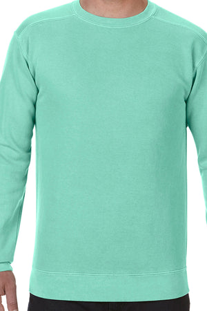 Monogrammed Hip Comfort Colors Adult Crew-Neck Sweatshirt *Customizable
