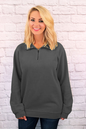 Shades of Neutral Comfort Colors Adult Quarter Zip Sweatshirt *Customizable!