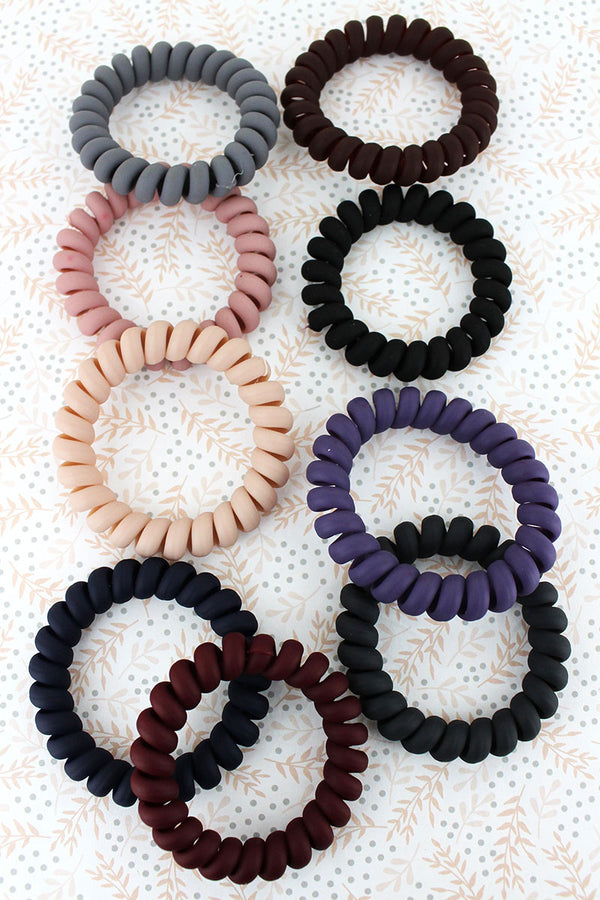 9 Piece Down To Earth TeleCord Bracelet/Hair Tie Set