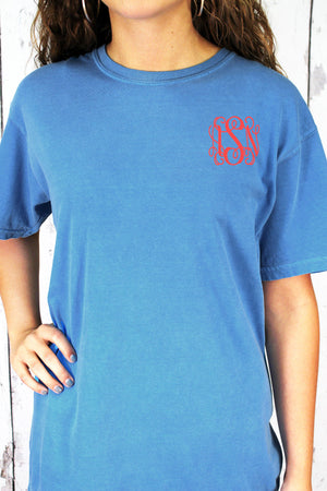 Shades of Blue Comfort Colors Adult Ring-Spun Cotton Tee #1717 *Personalize It