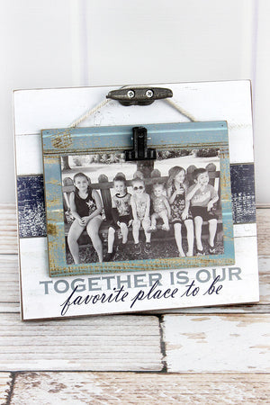 8.5 x 9 'Together Is Our Favorite Place' Wood 4x6 Photo Display