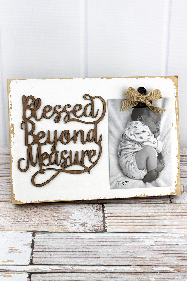 9.5 x 13.25 'Blessed Beyond Measure' 5x7 Photo Display