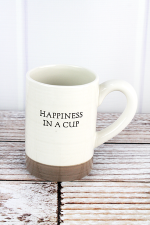 Two-Tone Ceramic 'Happiness In A Cup' Mug