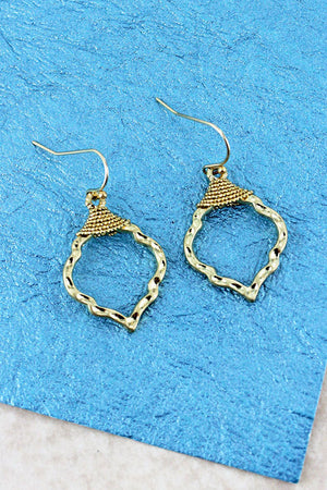 Crave Goldtone Wire Wrapped Moroccan Earrings