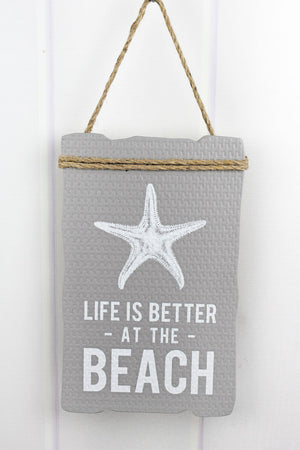 13.25 x 8.25 'Life Is Better At The Beach' Wood Sign