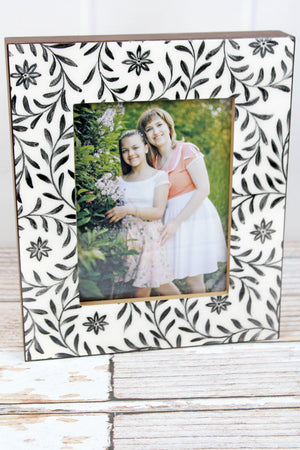 12 x 10 Glossy Botanical Wood 8x6 Photo Frame