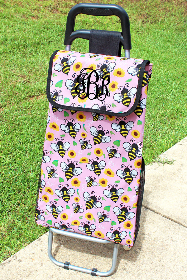 Busy Bee and Black Rolling Shopper Tote